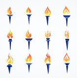 Flaming torch Royalty Free Stock Photography
