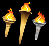 Flaming torches. royalty free stock photo