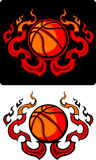 Flaming Tribal Basketball Vector Icons Royalty Free Stock Photo