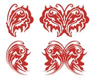 Flaming tribal butterfly wing Royalty Free Stock Photography