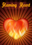 Flaming Valentine Heart Stock Photo