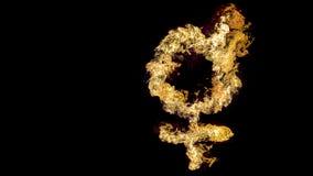 Flaming Venus symbol Stock Images