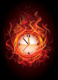 Flaming watch Royalty Free Stock Photo