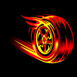 Flaming Wheel Stock Photography