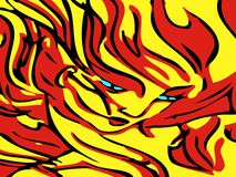 Flaming Woman Royalty Free Stock Photos