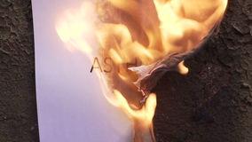 Flaming word asthma. 120 fps stock video footage