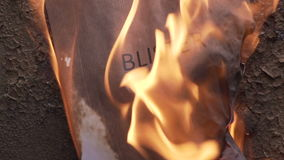 Flaming word blister. 120 fps stock footage