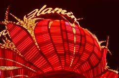 Flaminga kasyno Vegas Fotografia Royalty Free