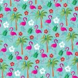 Flaminga wzór Fotografia Royalty Free