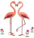 flamingi royalty ilustracja