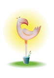Flamingo. A illustration of pink flamingo bird Royalty Free Stock Photography
