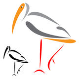 Flamingo. A illustration of a flamingo Stock Images