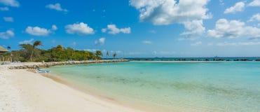 Flamingo beach at Aruba island Royalty Free Stock Photo