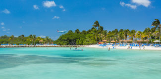 Flamingo beach at Aruba island Royalty Free Stock Images
