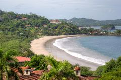 Flamingo Beach inlet in Costa Rica stock photos