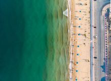 Flamingo beach in Ras Al Khaimah, UAE aerial view. Aerial view at Flamingo beach in Ras Al Khaimah emirate of United Arab Emirates uae rak seaside sand tourism stock photo