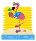 Flamingo At The Beach Royalty Free Stock Photos