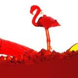 Flamingo der Flüssigkeit Stockfotografie