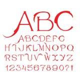 Flamingo - Elegant unique handcrafted vector alphabet. Flamingo - Elegant unique handcrafted vector alphabet Stock Photos