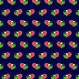 Flamingo - emoji Muster 80 lizenzfreie abbildung