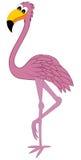 Flamingo engraçado dos desenhos animados Fotos de Stock Royalty Free