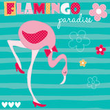 Flamingo flower vector illustration Stock Images