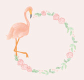 Flamingo garland Royalty Free Stock Image