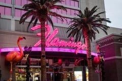 Flamingo Hotel and Casino Neon Sign - Las Vegas, Nevada, USA. LAS VEGAS, USA - December 20, 2016: Flamingo Hotel and Casino Neon Sign Royalty Free Stock Photos