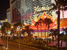 Flamingo Hotel at Night Royalty Free Stock Photography