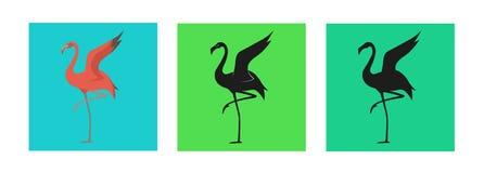 Flamingo-Ikonen-Veränderung Stockfotos