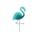 Flamingo Logo Template Stock Photos