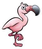 Flamingo Safari Animals Cartoon Character vektor illustrationer