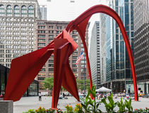 Flamingo Sculpture in Chicago Stock Photography