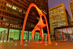 Flamingo Sculpture - Federal Plaza - Chicago Royalty Free Stock Photos