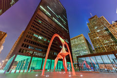 Flamingo Sculpture - Federal Plaza - Chicago Stock Photography