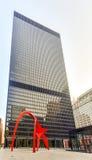 Flamingo Sculpture - Federal Plaza - Chicago Stock Image