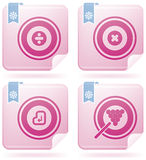 Flamingo Square 2D Icons Set: Abstract Stock Photography