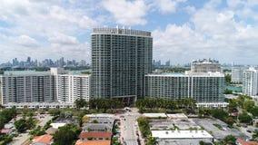 Flamingo Towers Miami Beach stock video footage