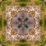 Flamingo vierkante samenvatting Royalty-vrije Stock Foto