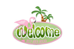 Flamingo Welcome Stock Photos