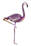 Flamingo zentangle stylized, vector, illustration, freehand Royalty Free Stock Photo