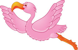 flamingoflyg Royaltyfri Fotografi
