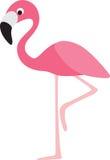Flamingokarikatur lizenzfreie abbildung