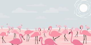 Flamingokonst Arkivfoton
