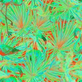 Flamingomodell Sommarvattenfärgbakgrund Arkivfoto