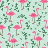 Flamingomuster Stockfotografie