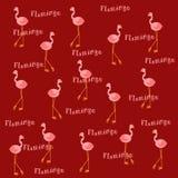 Flamingos cor-de-rosa no fundo do Sienna queimado foto de stock royalty free