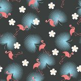 Flamingos exotic seamless pattern Royalty Free Stock Photography