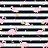 Flamingos, Funkelntupfen und Streifen Stockbild
