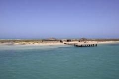 Flamingos Island Beach Scenery, Mediterranean Sea, Tunisia Royalty Free Stock Photography